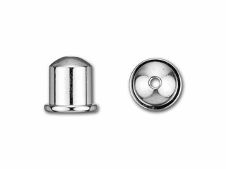 Cupola Endcaps, 6 mm, Bright Silver Finish, 2pcs