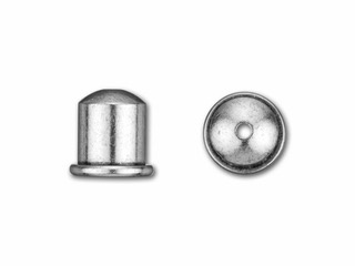Cupola Endcaps, 6 mm, Antique Silver Finish, 2pcs