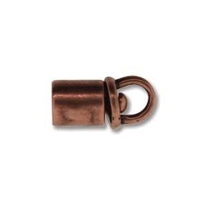 Israel Revolving End Cap, Antique Copper Finish, 4 mm, 2pcs