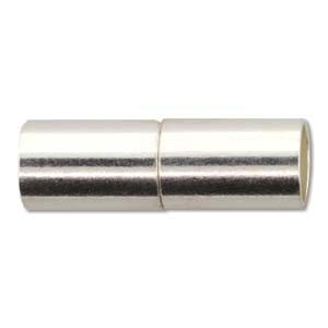Helby Magnetic Clasp, Bright Silver Finish, 6.2 mm