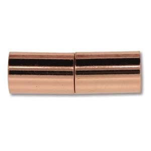 Helby Magnetic Clasp, Bright Copper Finish, 6.2 mm