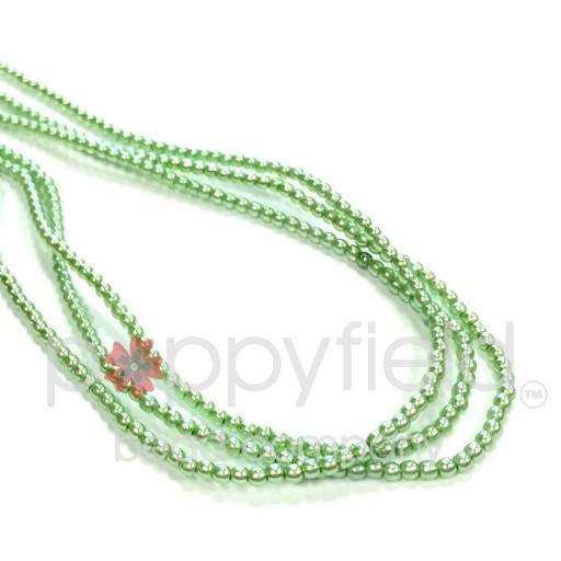 Czech Glass Pearls, 2 mm, Chrysolite, 150 pcs