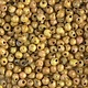 Japanese Drops, 3.4mm, Opaque Yellow Picasso, Approx. 10gm