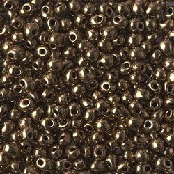 Japanese Drops, 3.4mm, Metallic Dark Bronze, Approx. 10gm