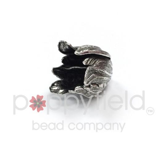 Flower Bead Cap, 20 x 17, Antiqued Silver, 1 pc.