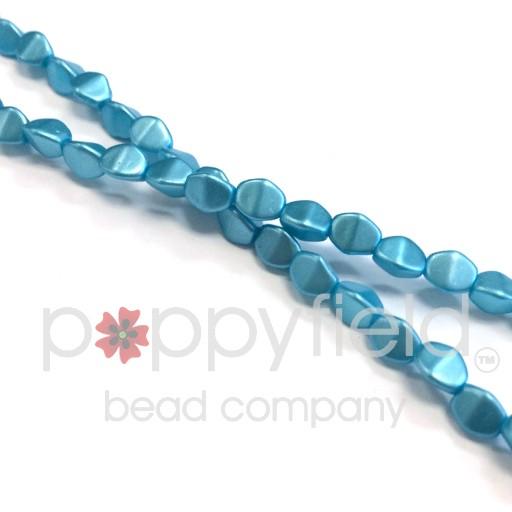 Czech Pinch Beads, 5 mm, Pastel Aqua, 50 pcs