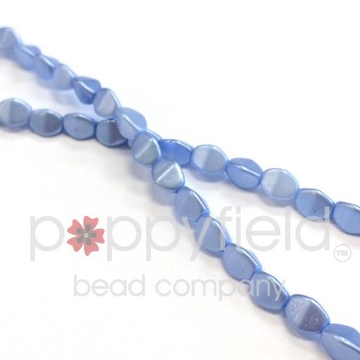 Czech Pinch Beads, 5 mm, Pastel Light Sapphire, 50 pcs