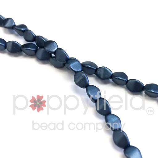 Czech Pinch Beads, 5 mm, Pastel Montana Blue, 50 pcs