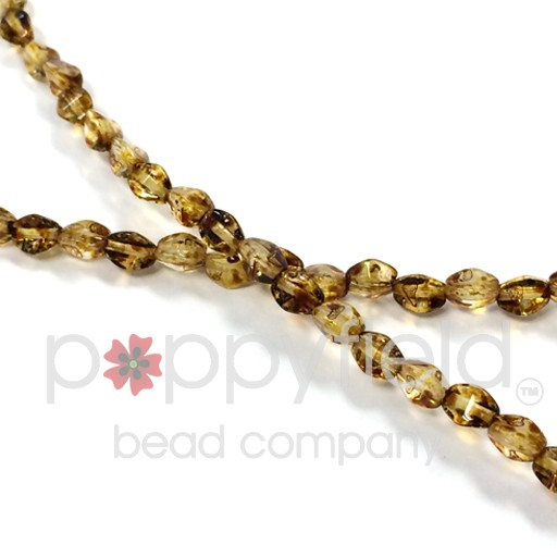 Czech PINCH BEADS, 5 mm, Crystal Picasso, 50 pcs