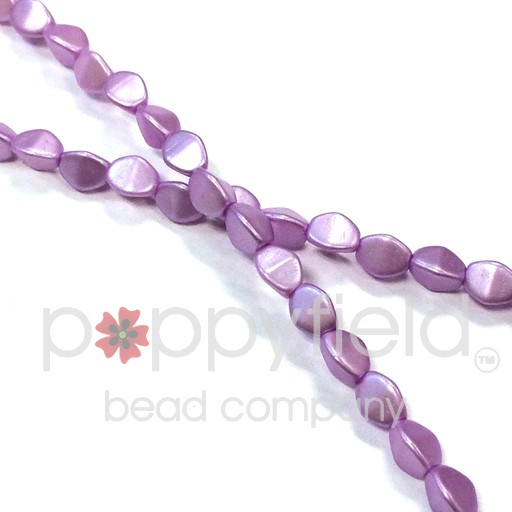 Czech PINCH BEADS, 5 mm, Pastel Light Rose, 50 pcs