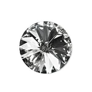 Austrian Swarovski Rivoli, 12 mm, Crystal