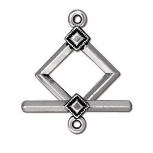 Helby Clasp Set, Diamond Deco, Antique Silver