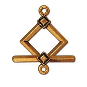Helby Clasp Set, Diamond Deco, Antique Gold