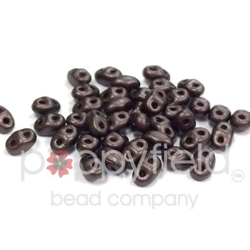 Czech MINI-DUO, Pearl Coat Bistre Brown, 12g