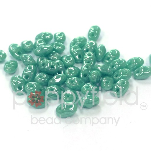 Czech MINI-DUO, Luster Opaque Turquoise, 12g