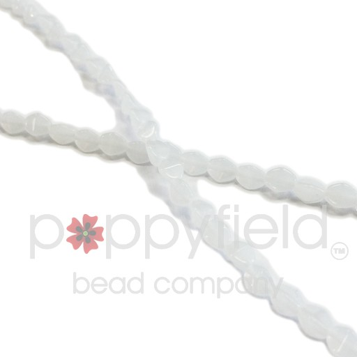 Czech Pinch Beads, 5 mm, Milky White, 50 pcs