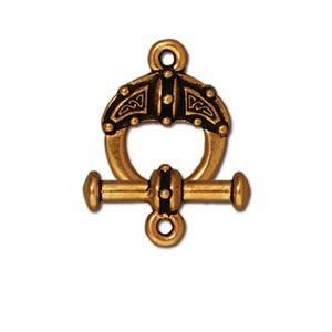 Celtic Toggle, Antique Gold Finish