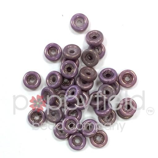 Czech Wheel Beads, 6 mm, Chalk Vega, 20g Tube