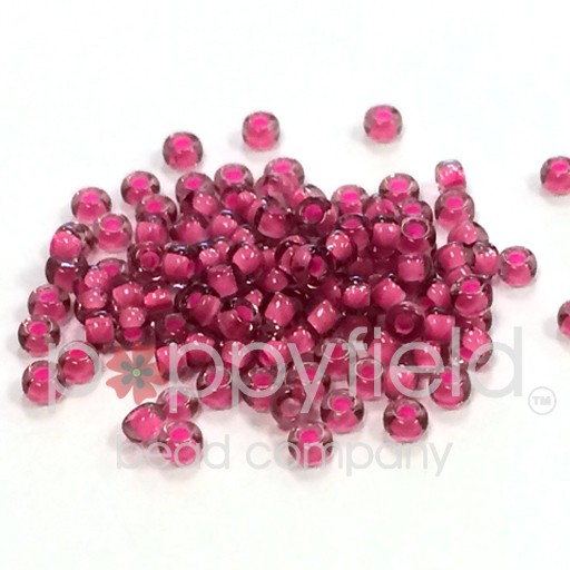 Japanese Japanese Seed Beads, 11/0, Pink Lined Amethyst, Approx. 30g tube