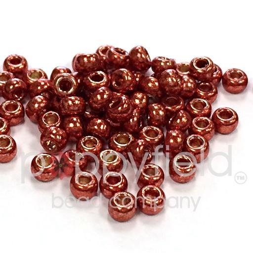 Japanese Japanese Seed Beads, 11/0, Metallic Burnt Umber Duracoat, Approx. 30g tube