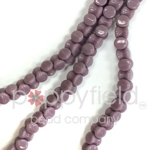 Czech Pellet Beads, 4x6mm, Opaque Purple, 30 pcs