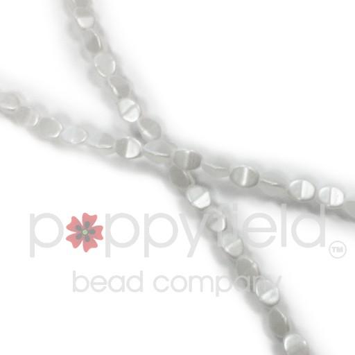 Czech Pinch Beads, 5 mm, Pastel White, 50 pcs