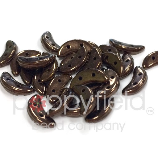 Czech CzechMate Crescent, 3/10 mm, Dark Bronze, 10g