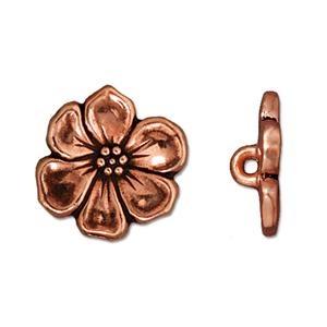 Apple Blossom Button, Copper