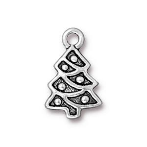 Chistmas Tress Charm, Silver Plate