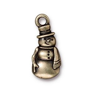 Frosty Charm, Oxidized Brass
