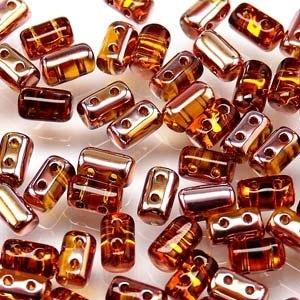 Czech Rulla Beads, Topaz Gold Capri, 25g