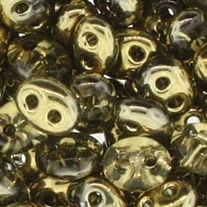 Czech Twin Beads, Bronze, 25 gm tube