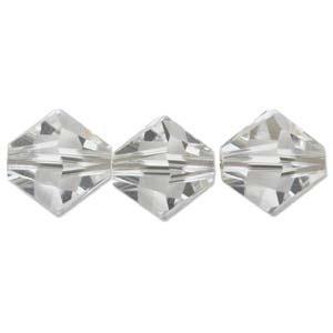 Austrian Swarovski Bicones, 2.5 mm, Crystal, 36 pcs