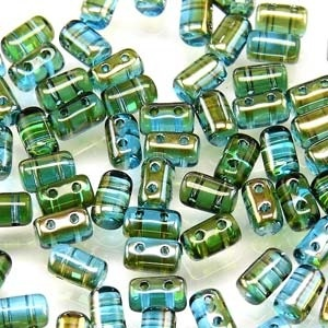 Czech Rulla Beads, Aquamarine Celsian, 25g