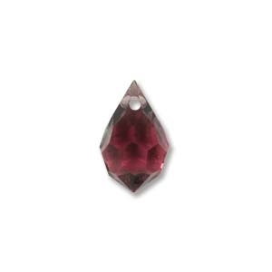 Czech Preciosa Crystal Drops, 9x15, Amethyst, 2 pcs