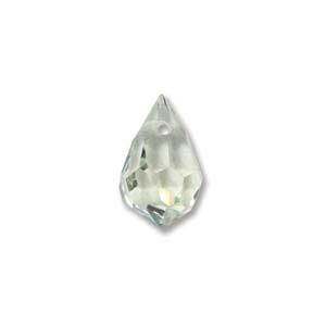 Czech Preciosa Crystal Drops, 9x15, Crystal Viridian, 2 pcs