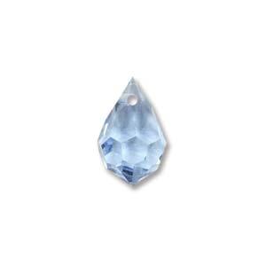 Czech Preciosa Crystal Drops, 9x15, LT. Sapphire, 2 pcs