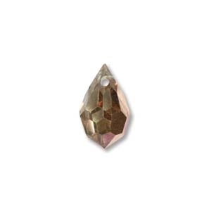 Czech Preciosa Crystal Drops, 9x15, Crystal Capri Gold, 2 pcs