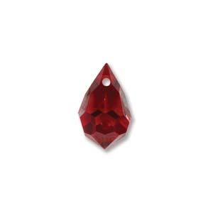 Czech Preciosa Crystal Drops, 9x15, Siam AB, 2 pcs