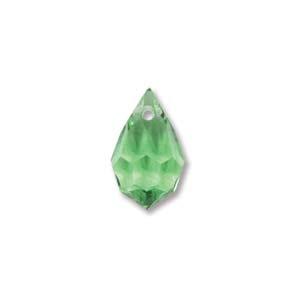 Czech Preciosa Crystal Drops, 9x15, Peridot, 2 pcs