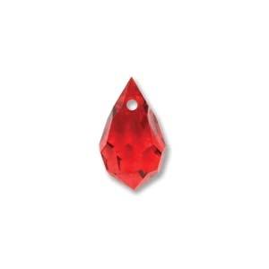 Czech Preciosa Crystal Drops, 9x15, LT. Siam, 2 pcs