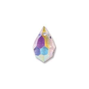 Czech Preciosa Crystal Drops, 9x15, Pink Sapphire AB, 2 pcs