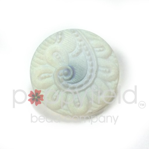 Czech Czech Button, 22 mm, White Spiral