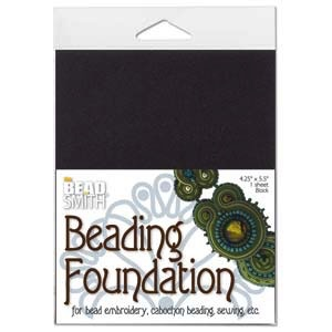 Helby Bead Foundation, 4.25x5.5 Inch Sheet, Black