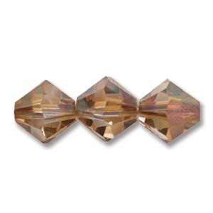 Austrian Swarovski Bicones, 3 mm, Crystal Copper, 36 pcs