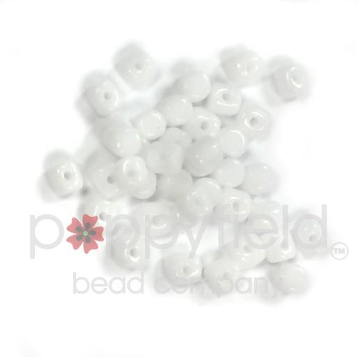 Czech Minos, 2.5 x 3mm, Opaque White, 10g