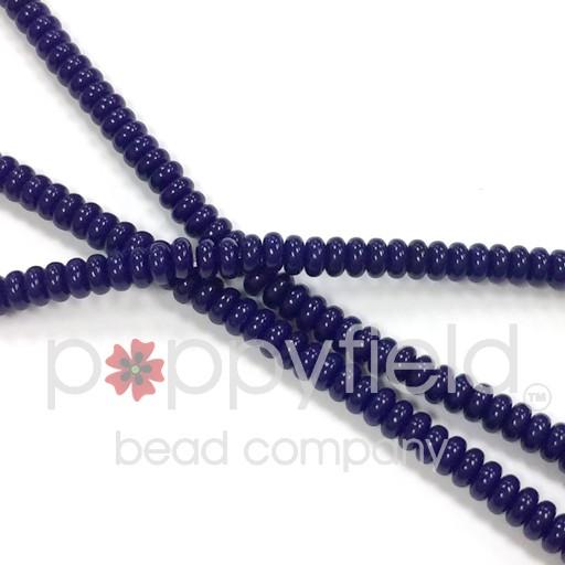 Czech Rondelles, 3mm, Navy Blue, 100 pcs