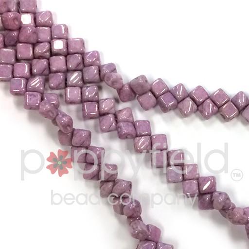 Czech Mini-Silky, 5 mm, Lilac Luster, 40 pcs