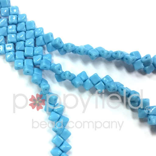 Czech Mini-Silky, 5 mm, Blue Turquoise, 40 pcs