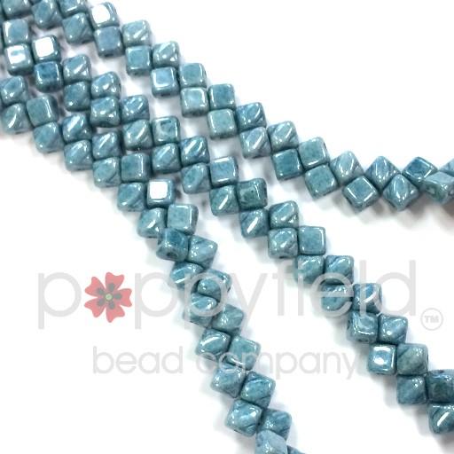 Czech Mini-Silky, 5 mm, Blue Luster, 40 pcs